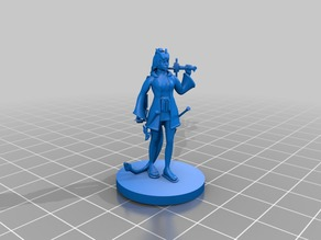Female Tiefling with sword whip