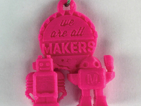 MAKERS - souvenir pendant for Maker Faire
