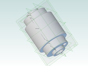This is an alternative Idler design for the Filament extruder puller by wingmaster