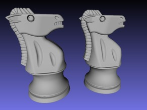 4d-Staunton Full Size Chess Set - simplified