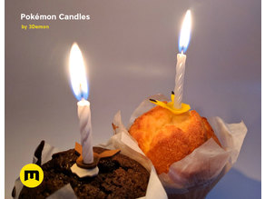 Pokemon Bithday Candles - Pikachu and Eevee