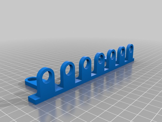 Wall Mounted Screwdriver Holder By American3dprinting