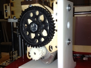 Wade's Extruder Vertical Stand (for Bowden mod)