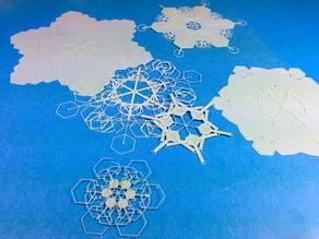 1000 Unique Snowflakes