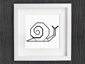 Customizable Origami Snail
