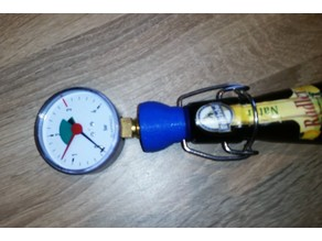 Bottle iron lock Pressure measurement