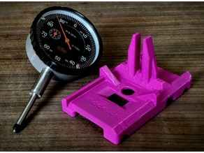 Sled mount for precision dial indicator