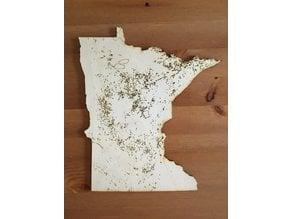 Minnesota Lakes Map