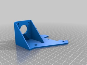 Ender 3 - X axis motor mount rear plate with extruder mount