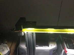 LED light strip holder for CR10