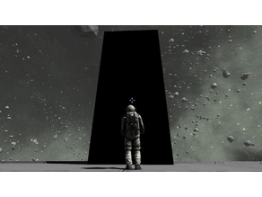 2001 A Space Odyssey - Monolith - Fully articulated action figure in HO Scale!