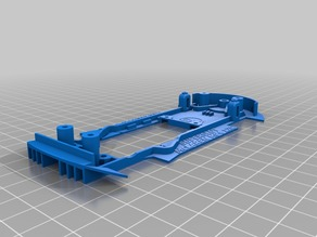 Slot car chassis for SUPERSLOT/SCALEXTRIC McLAREN MP4 12C 1:32