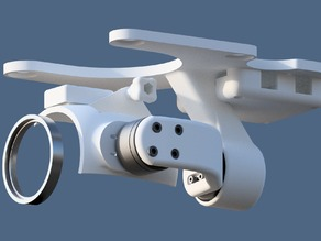MotorPixie 2-axis gimbal for DJI Phantom 2 Vision (FC200 edition) - Discontinued