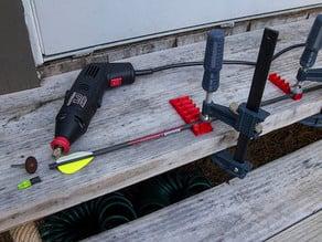 Parametric Carbon Fiber Arrow Cutting Jig for 3d Printer Delta Arms