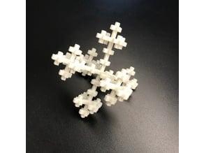 3D Vicsek Fractal Cross