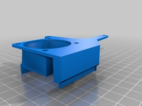 Chimera Fan Mount for 40mm Hot end and 50mm Radial Part Cooling Fan