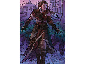 Arlinn, Voice of the Pack - stained glass - litho