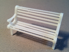 1:24 Park Bench