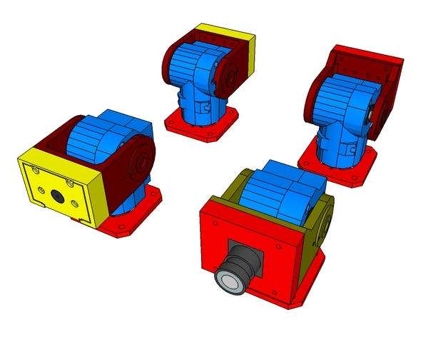 Super Ultra Compact Pan/Tilt Camera Mount - V2 by Zalophus - Thingiverse