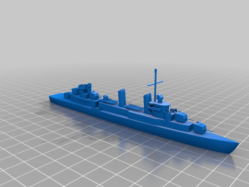 Fletcher Class Destroyer by crinard - Thingiverse