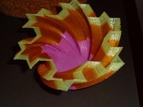 Koch Snowflake Candy Dish