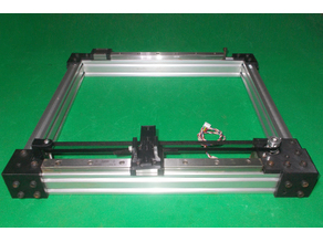 Homemade Y Axis Frame Free stl DIY Linear Motion X Y Guide 3D Printer Laser CNC Router Drill Mill