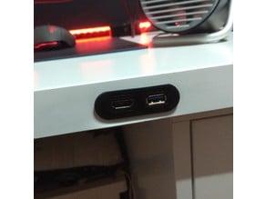Oculus table conectors (USB & HDMI)