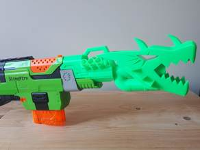 nerf slingfire custom dragon barrel