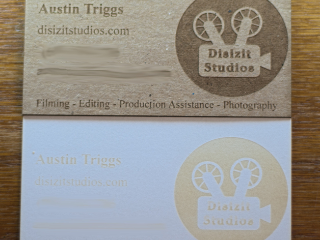 Laser engraved business cards by disizitstudios thingiverse laser engraved business cards by disizitstudios jul 10 2016 thingiview colourmoves