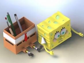 Cute SpongeBob SquarePants pen container