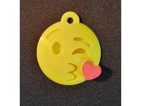 Emoji Kiss Keychain