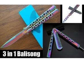Balisong Comb, Trainer, & Blade