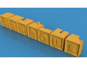 Bauhaus - Alphablock Letters