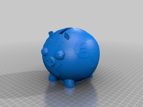 Pig coin bank - Empty-able Piggy remix