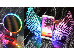 phone wireless charging  stand,Music induction lamp