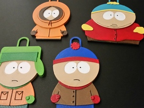 Stan, Kyle, Kenny and Cartman - South Park Characters
