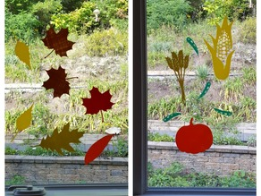 Fall Harvest Fun Window Decals