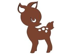 Small Deer Fridge Magnet