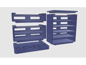 Cartridge storage - Genesis/MegaDrive/MasterSystem