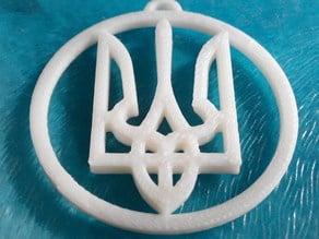 Ukrainian symbol in a circle