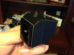 Corner Bracket with Standard AC Receptacle Insert for QU-BD Revolution and RXL 3D Printers