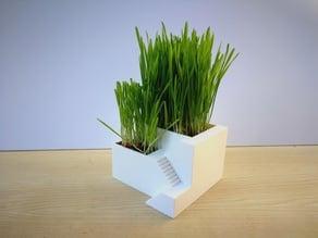 Flower pot building