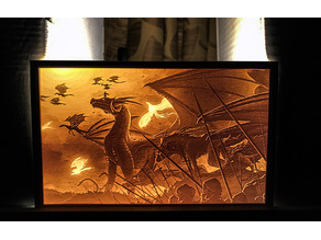 Day of the Dragons lithophane