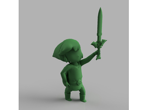 Toon Link getting the Master Sword: Legend of Zelda The Wind Waker