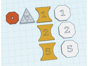 DnD coins - but with number on the back