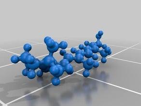 Molecular Model - Retinol (Vitamin A) - atomic scale model