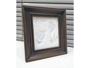 Flexible LIthophane Picture Frame