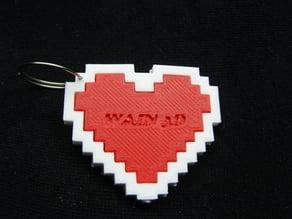 Pixel Heart Key chain