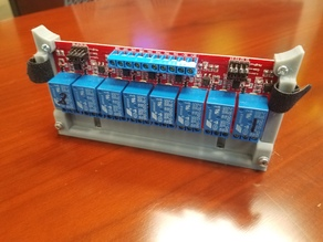 12V 8-channel relay board vertical mount