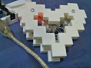 8 Bit Heart (LED Diffuser)